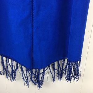 Vintage Skirts - Vintage 90s Royal Blue Fringe Skirt